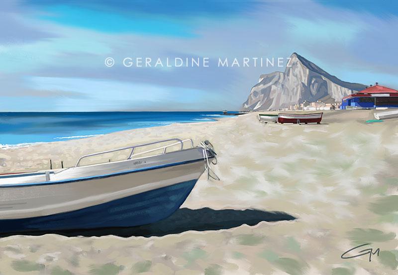 geraldine martinez gibraltar from la linea