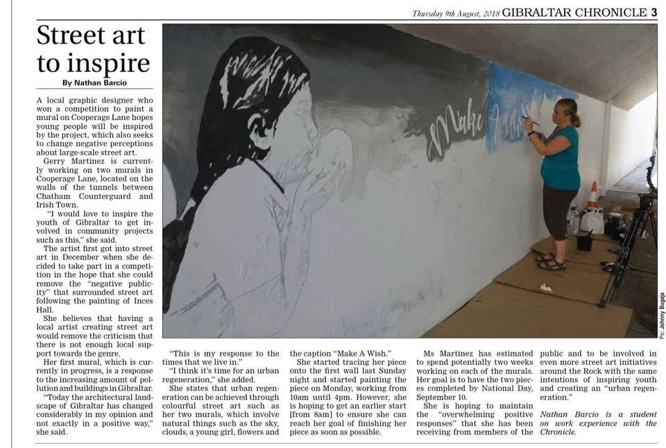 Street Art Winner Gibraltar, Geraldine Martinez