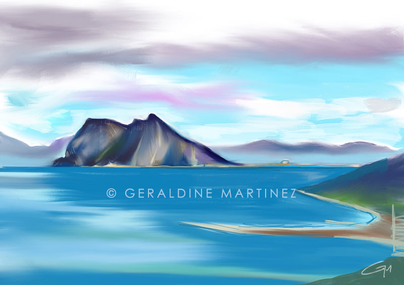 geraldine martinez ipad landscape blue rock