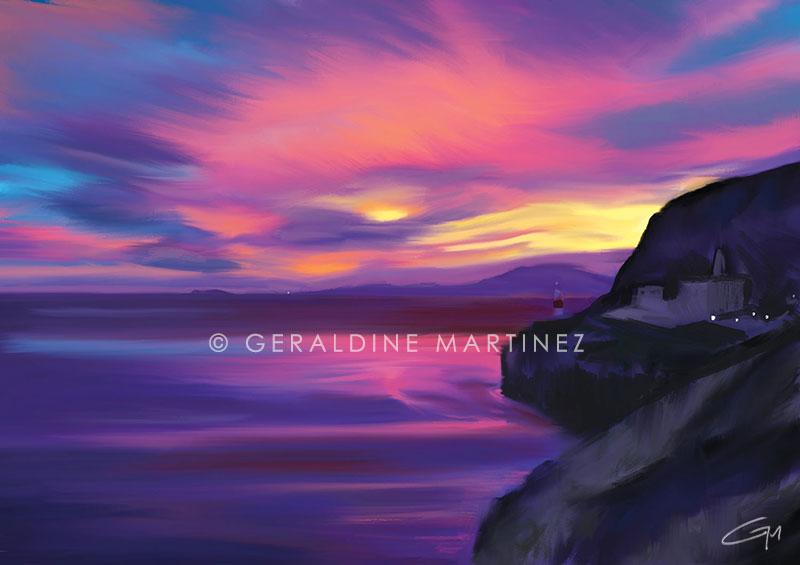 geraldine martinez sunset of the straits-gibraltar-artist