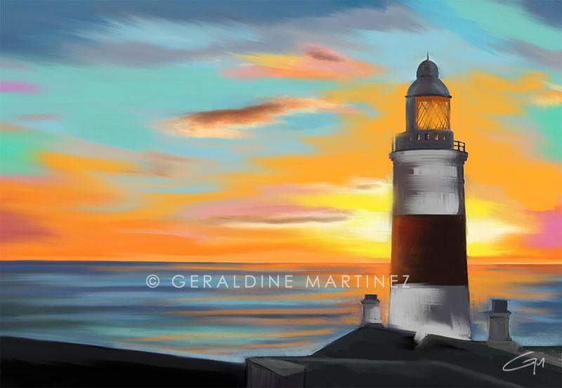 geraldine martinez europa point lighthouse-gibraltar-artist