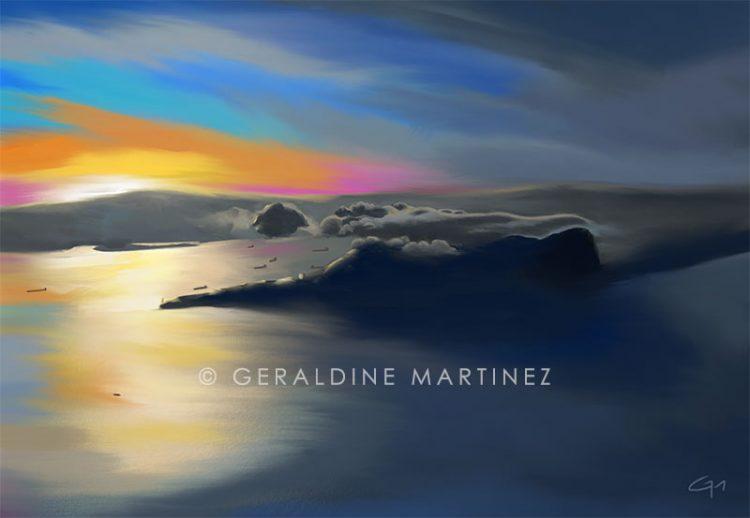 aerial-of-gib-geraldine-martinez-gibraltar-artist
